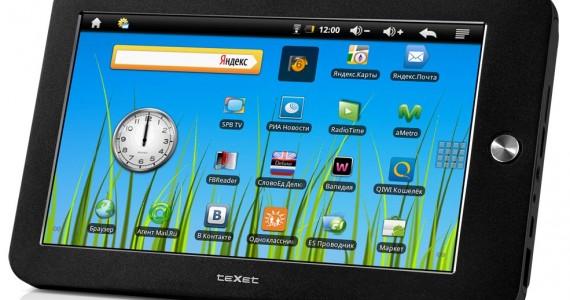 планшетный компьютер teXet TM-7010