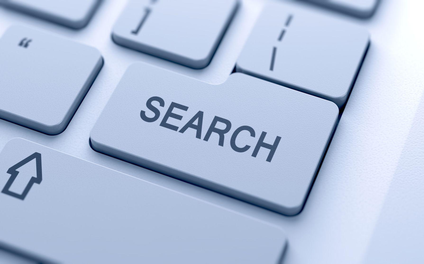 Кнопка поиска на клавиатуре